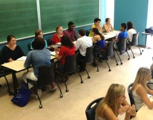 Students in Attracting Capital, Meadows School of the Arts, SMU.