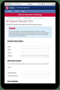 AV Request Form