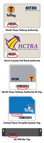 Toll Tags Examples