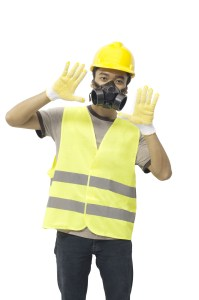 Property Inspectors Tools Include Respirator