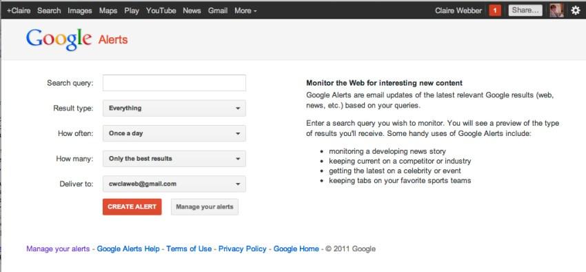 Google alert online reputation