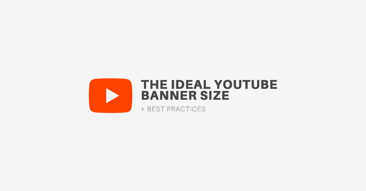 Ideal youtube banner size is considerably larger: The Ideal Youtube Channel Art Size Best Practices 2021 Update