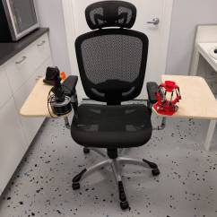 Office Chair Joystick Mount Building Adirondack Chairs I Made A Thing Hotas Desk Snooze Button Ronin Wings Mounted Delta Throttle Loosely Set On Top The Is Work In Progress It Functional But Not Complete