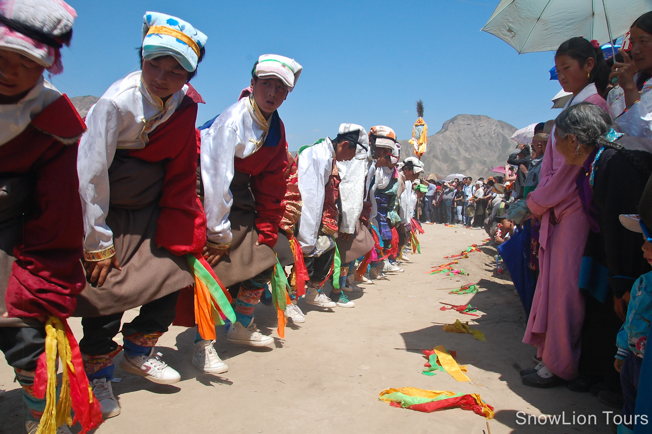 chair dance ritual song folding picnic table and chairs asda shaman festival in repkong tibet insider
