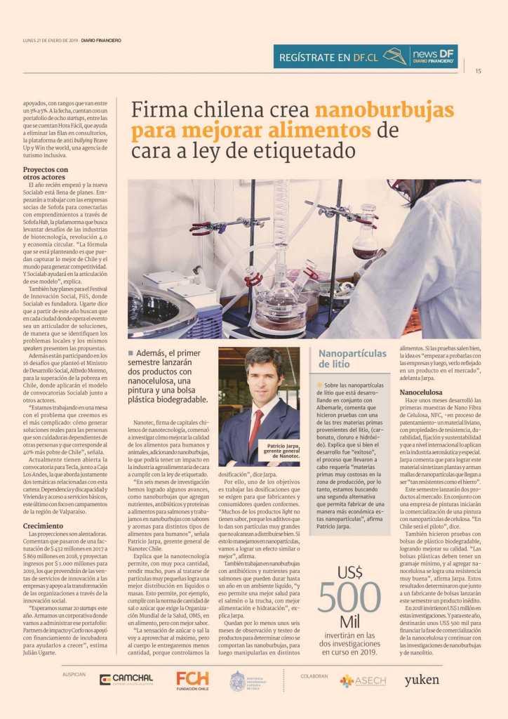 Julian ugarte habla de la reinvención de socialan con diario financiero chile