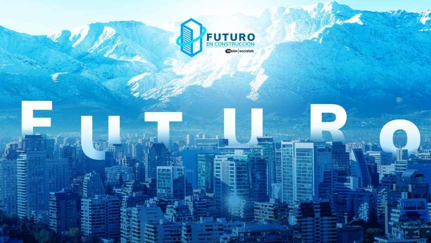 Convocatoria 'Futuro en construcción', palabra futuro inserta en la ciudad de Santiago de Chile