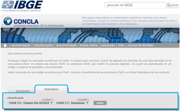 Consulta CNAE