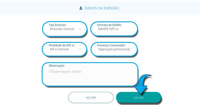 Emitir NFCe - GA