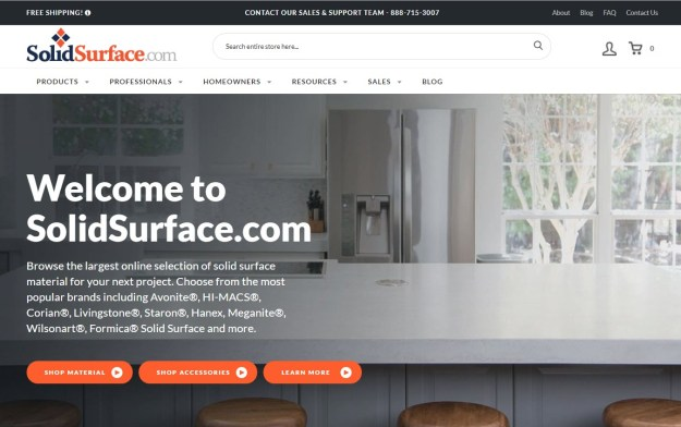SolidSurface.com Website Homepage