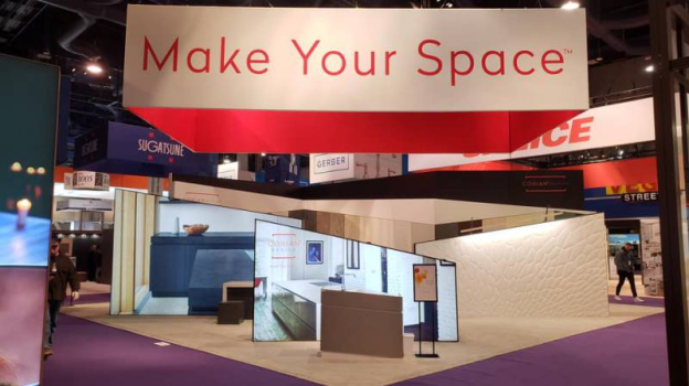 "The 2019 KBIS Corian® Design ""Make Your Space™"" Booth"