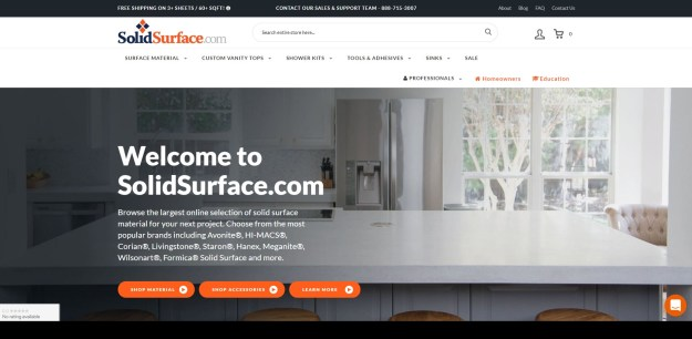 SolidSurface.com Website Homepage