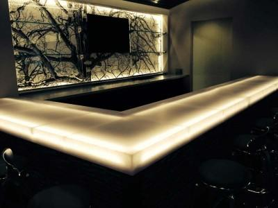 STUDIO Collection® from Aristech® Surfaces, backlit solid surface in hospitality