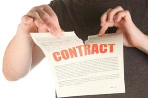 rompere un contratto