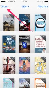 Schermata principale iBooks