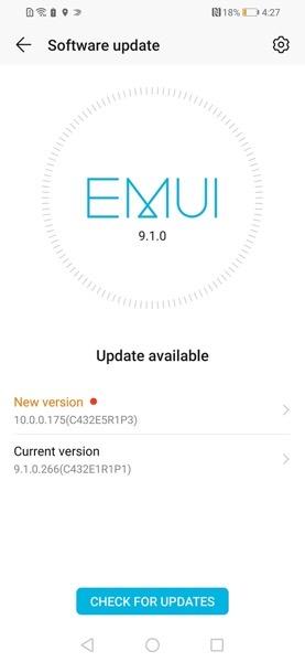 software di sistema EMUI
