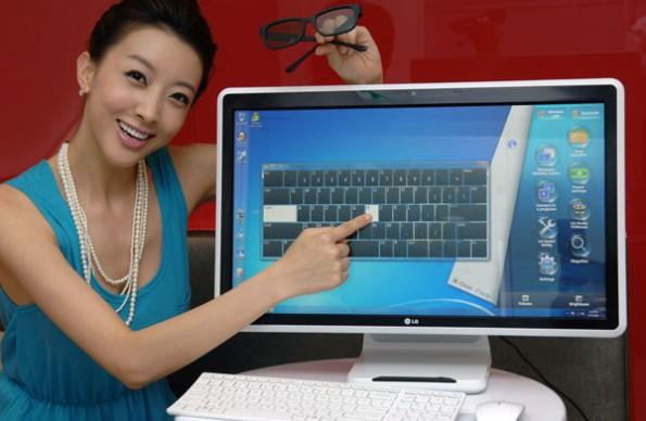 CTX2011: LG presenta su V300, una PC todo-en-uno 3D con pantalla multitáctil