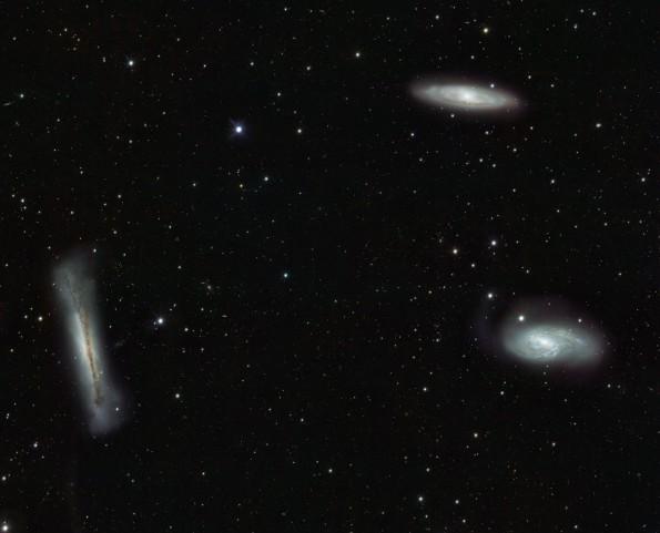 Imperdible: Tres galaxias fotografiadas al mismo tiempo
