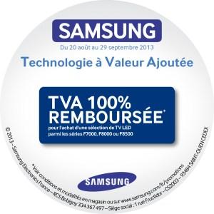 Samsung TVA remboursée