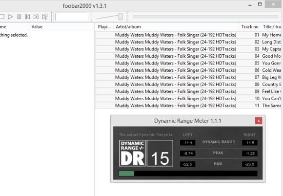 Le plugin Dynamic Range Meter pour Foobar permet d'analyser la qualité du mixage de n'importe quel fichier audio