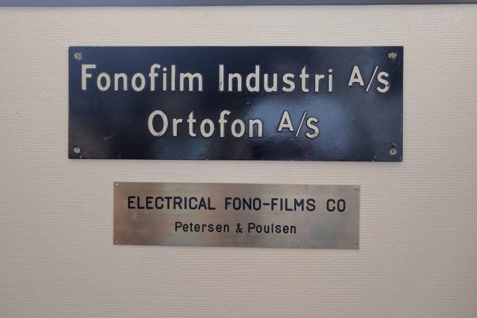 Plaque Electrical Phono-Films Compagny musée usine Ortofon