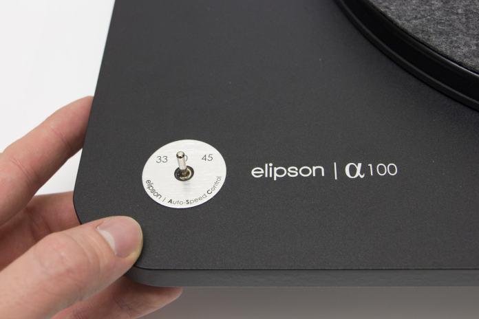 Platine vinyle Elipson Apha 100 selecteur de vitesse lecture