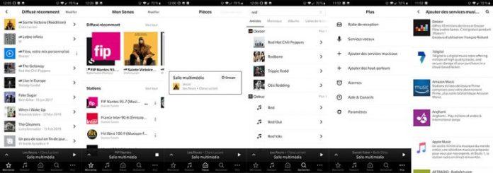 App Sonos : Mon Sonos, gestion multiroom, ajout de services musicaux...