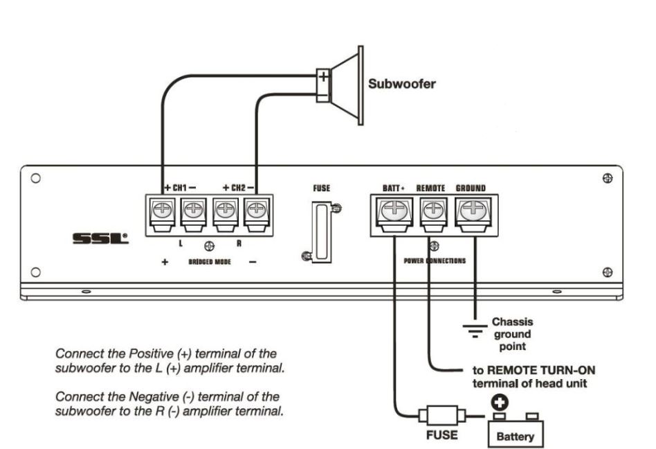 bridge 4 channel amp wiring diagram