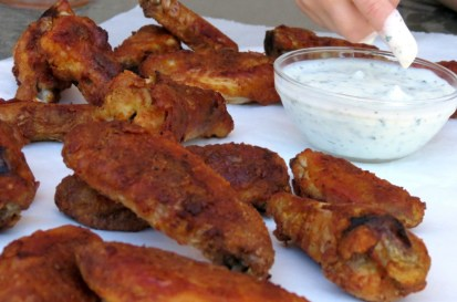 Chicken wings with ranch