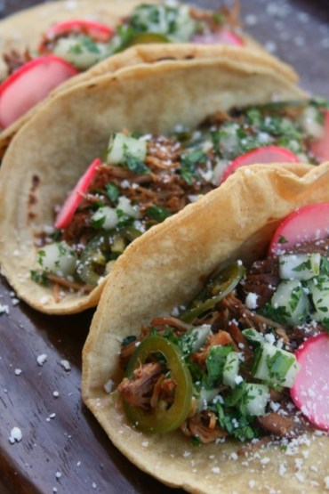 Chipotle Pork Tacos with Pickled Jalapeno