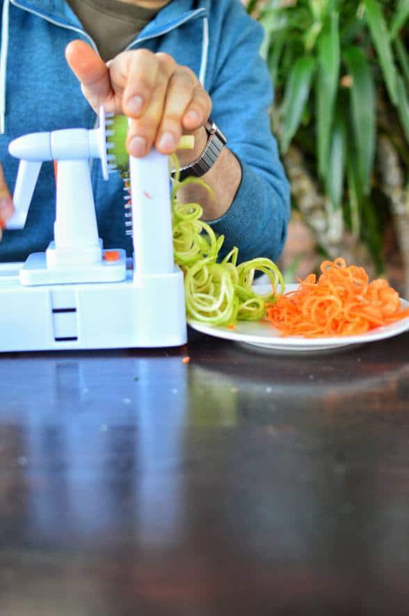 Shredding zucchini - Sonoran Spice