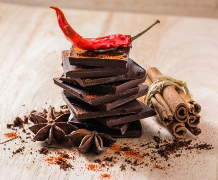 Cayenne pepper goes well with chocolate and other sweets