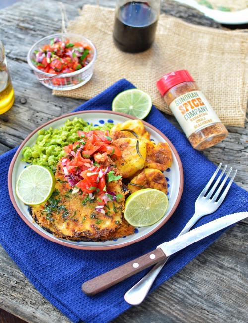 Eggplant Schnitzel | Sonoran Spice Habanero Grill Seasoning