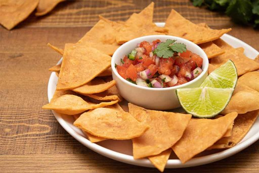Ghost Pepper Salsa with Tortilla Chips