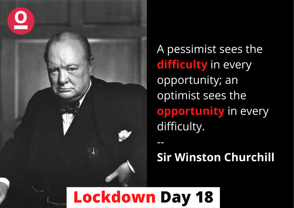 Motivational Quote by Sir Winston Churchill - Inspirational Quotes during Lockdown