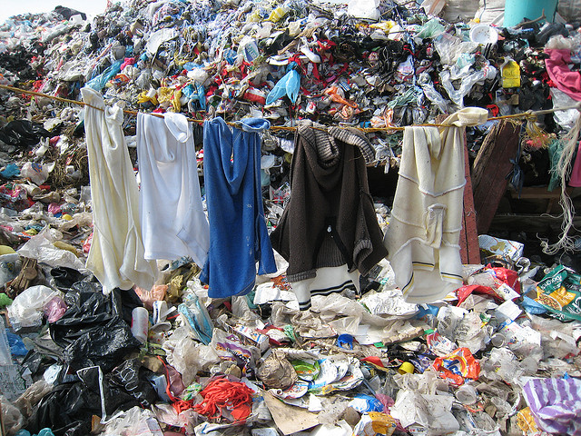 Clothing in landfill