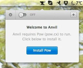 Powをインストールしろと言われます