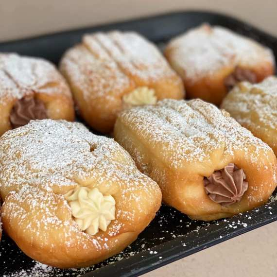 Soy-Based Custard Doughnoli at Cherry Darlings