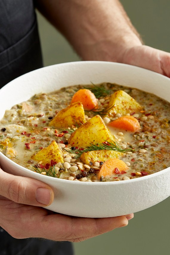 Add some fresh herbs to your Moroccan Spiced Stew