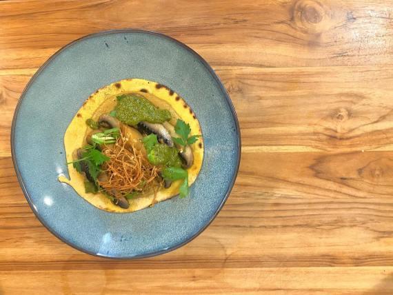 Confit Mushroom Taco - Needle In A Haystack Bistro
