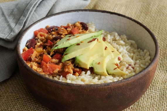 Juan's Mexican Beans and Rice with Avocado