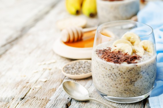 PB & Banana Chia Seed Pudding with Soulara Banana Bliss Almond Mylk