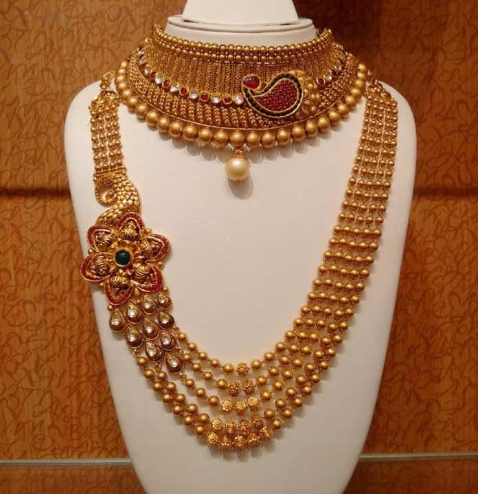 21 Traditional Gold Jewelry Set Designs For Marriage South India