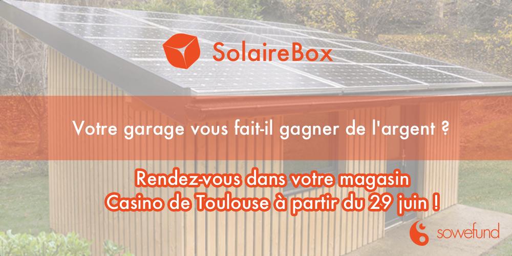 Solaire Box expose les 1ères habitations solaire au Casino de Toulouse