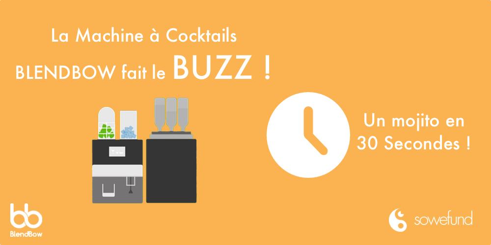 Blendbow, une machine qui fait des cocktails en 30 secondes !