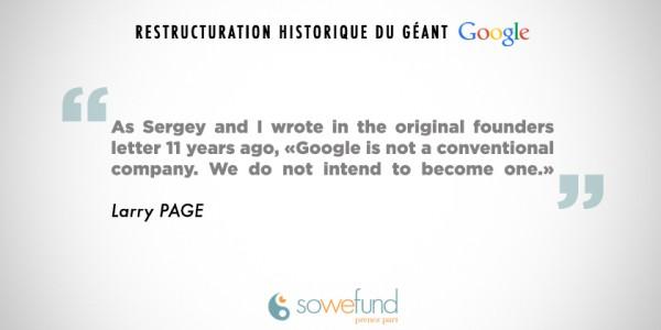 Google : une restructuration historique favorable à l'innovation