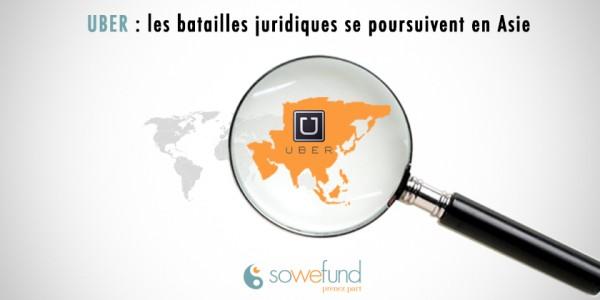 Uber : les batailles juridiques se poursuivent en Asie