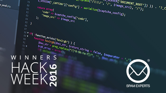 SpamExperts Hack Week 2016 Winners