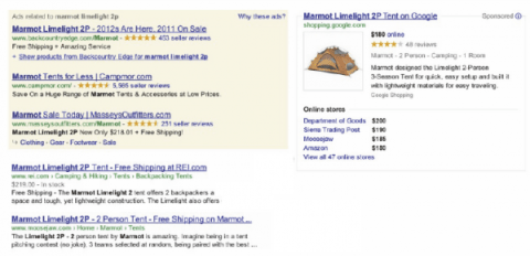 Google Shopping Right Side