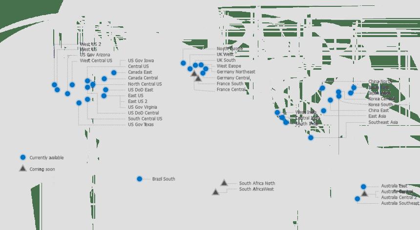 Azure region availability