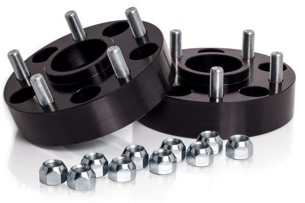 """Spidertrax Jeep 5 on 5"""" x 1-1/2"""" Thick Black Wheel Spacer Kit"""